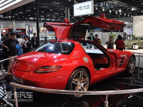 梅赛德斯-奔驰sls amg超级跑车高清图片