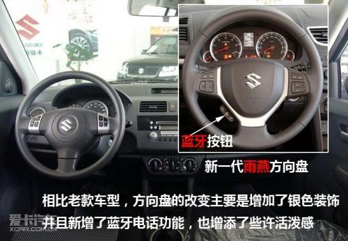铃木雨燕汽车内部按钮图解 中控台
